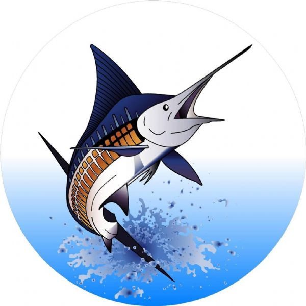 MARLIN 4x4 Spare Wheel Cover DECAL STICKER